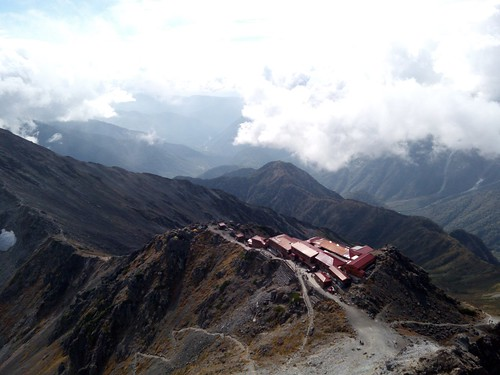 一日目のテンバの槍ヶ岳山荘。ここでテント泊した。