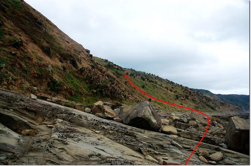 溪仔口山海蝕平台登山口 1