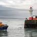 Penlee Lifeboat enters Newlyn Harbour