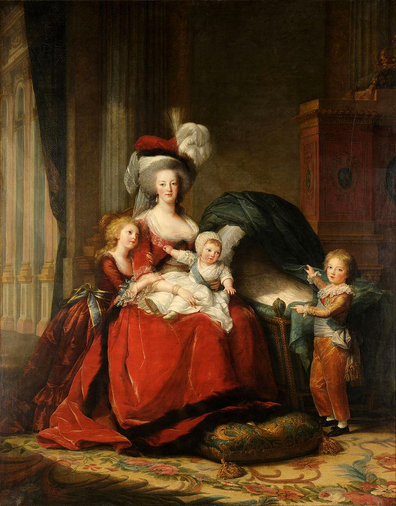 Marie-Antoinette de Lorraine-Habsbourg, Queen of France, and her children by Louise Élisabeth Vigée Le Brun, 1787