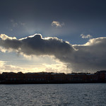 Cloud shapes at Preston Docks
