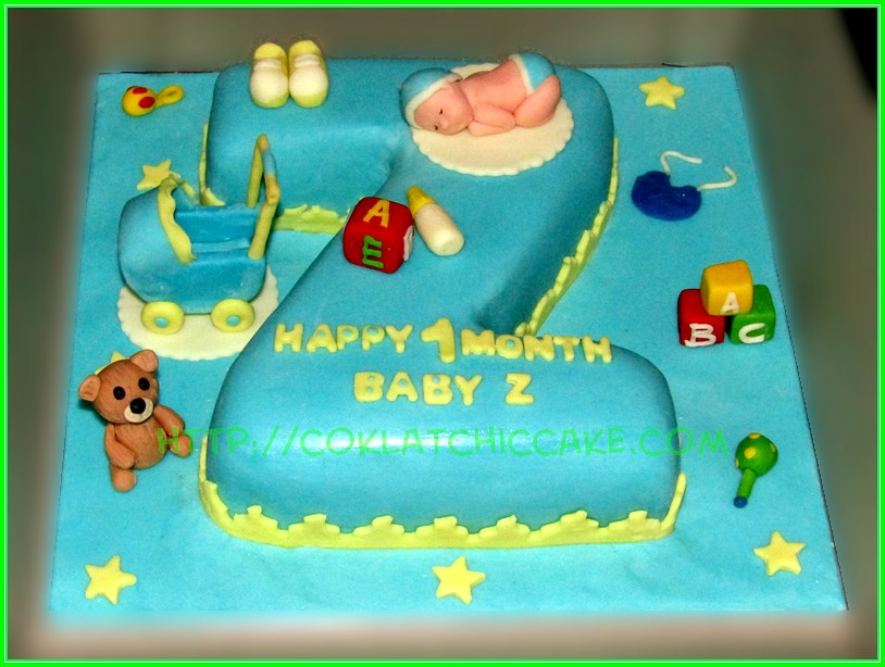 Cake huruf BABY Z