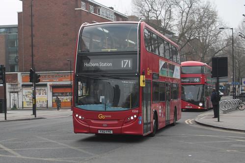 Go-Ahead London E250 YX12FPE