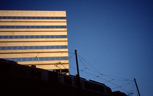Green Line, Tip O'Neill Building, Boston - Kodachrome - 2001