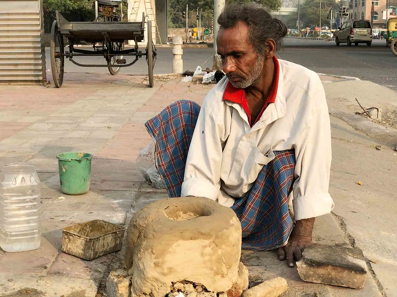 City Life - Somwar Kumar's Roadside Stove, Central Delhi