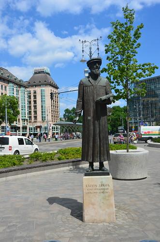 Das Denkmal von Calvin, dem Reformator, in Budapest