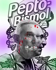 Trump mastermind Roger Stone has resorted to shilling for Pepto Bismol… What next? ;)