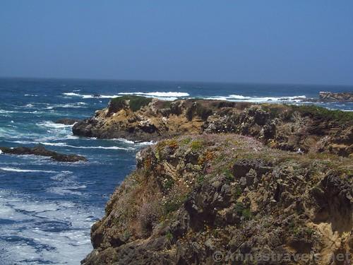 Cliffs along the Coastal Trail south of Glass Beach, California