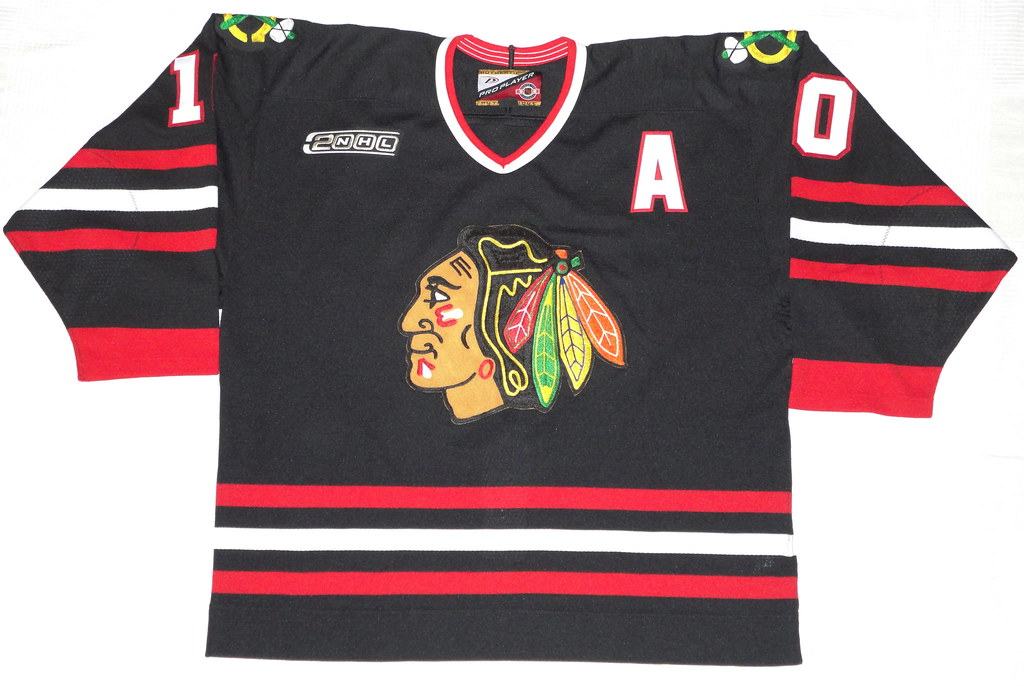 1999-2000 Tony Amonte Chicago Blackhawks Alternate Jersey Front