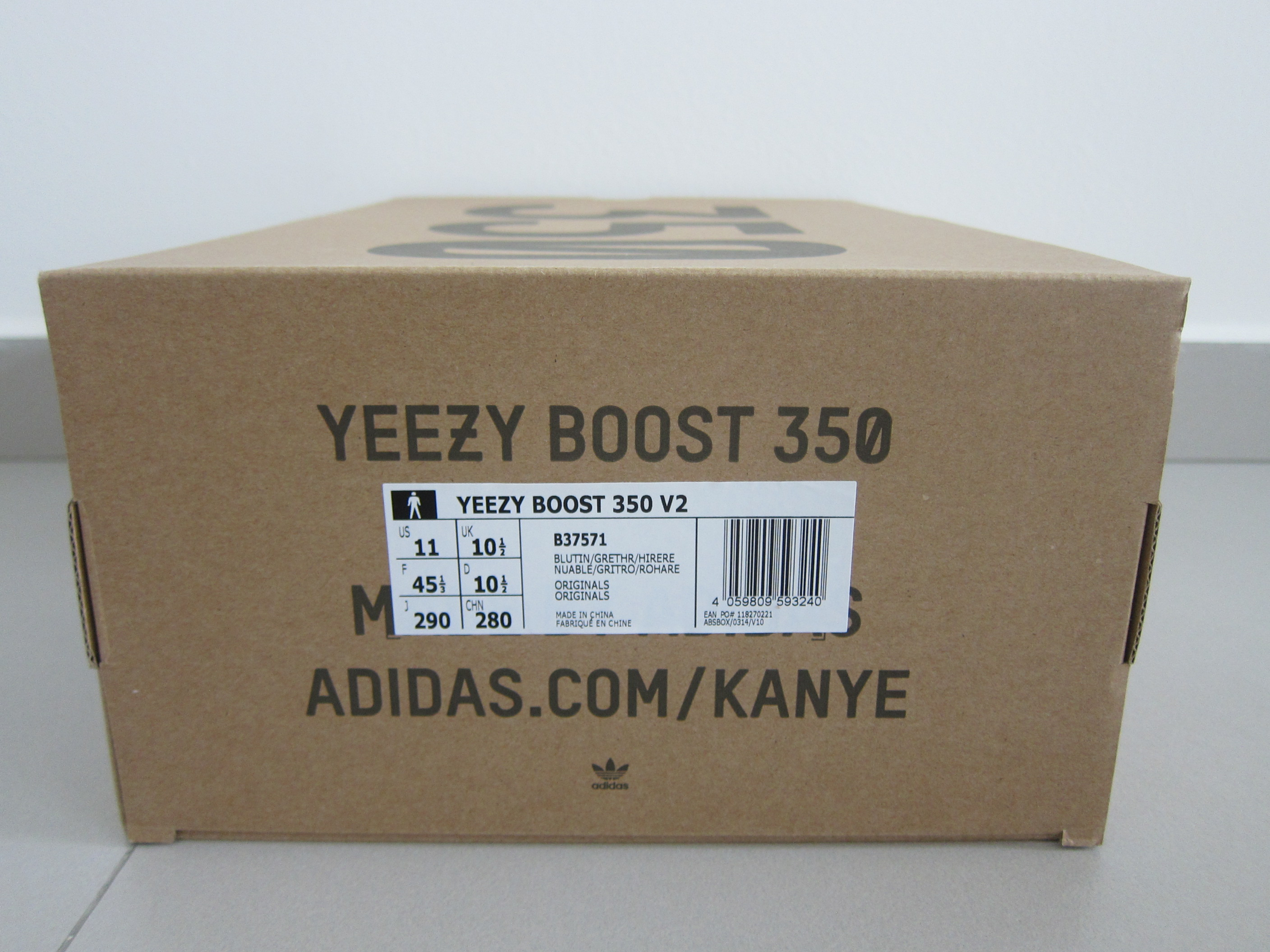box of adidas yeezy