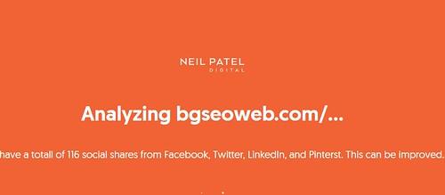 analiza el seo de tu web en el portal de Neil Patel, sigue las instrucciones.