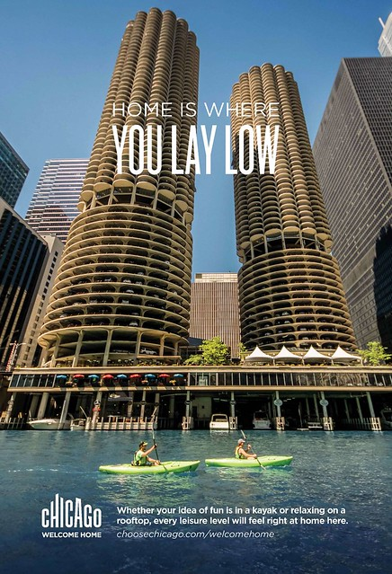 Choose Chicago: Home Is Where You Lay Low advertising campaign 2017