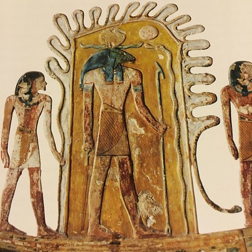 Tomb Of Seti in his Ba form as the Sun God around him are Sia the power of the word and Heqa magic. From pinterest.com