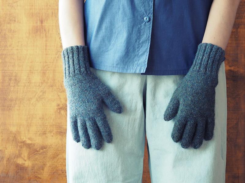 mismatched gloves