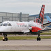 G-LGNA - 1990 build Saab 340B, lining up for departure on Runway 23L at Manchester