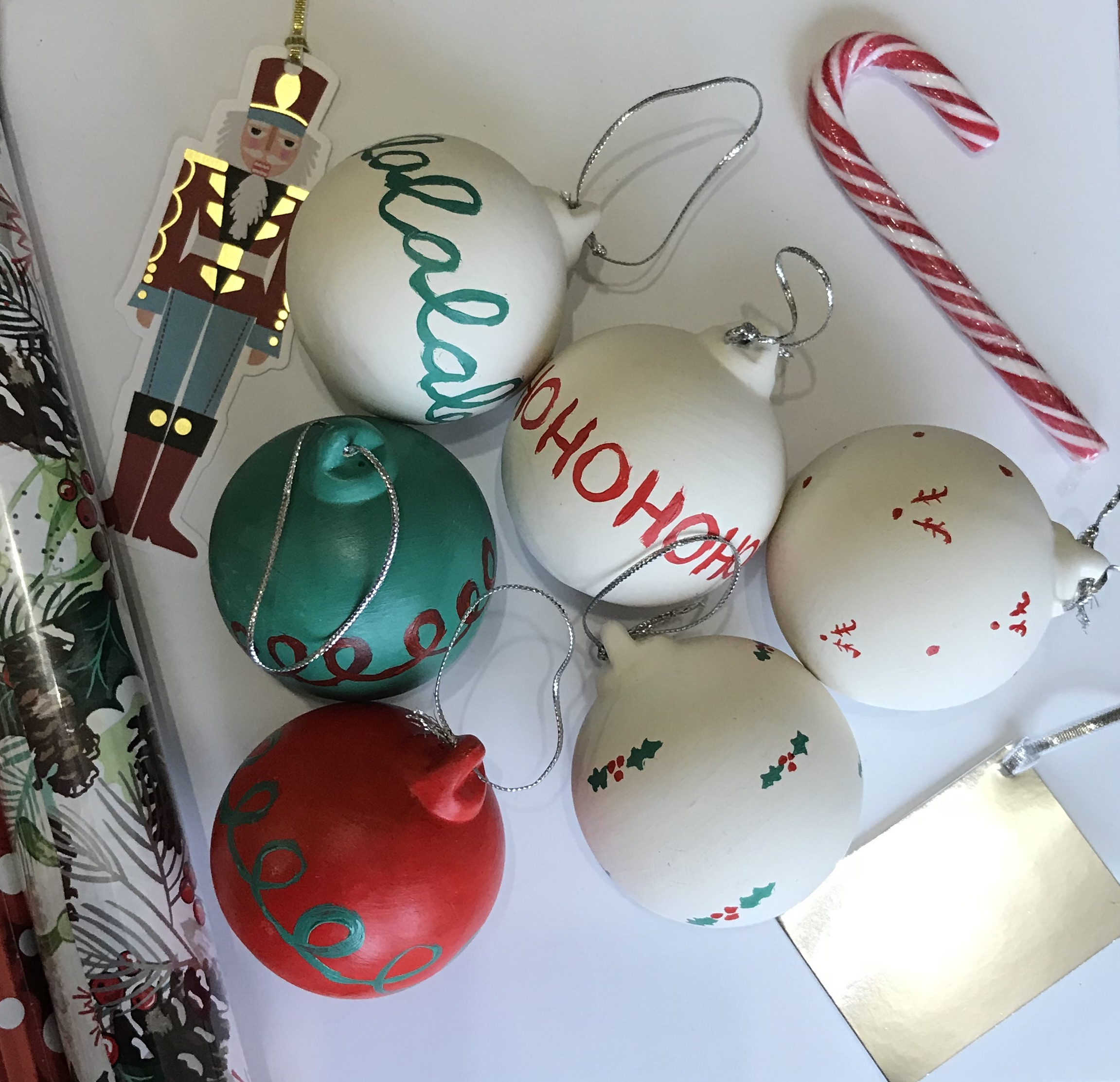 Handmade Christmas Decorations with Reeves - all baubles