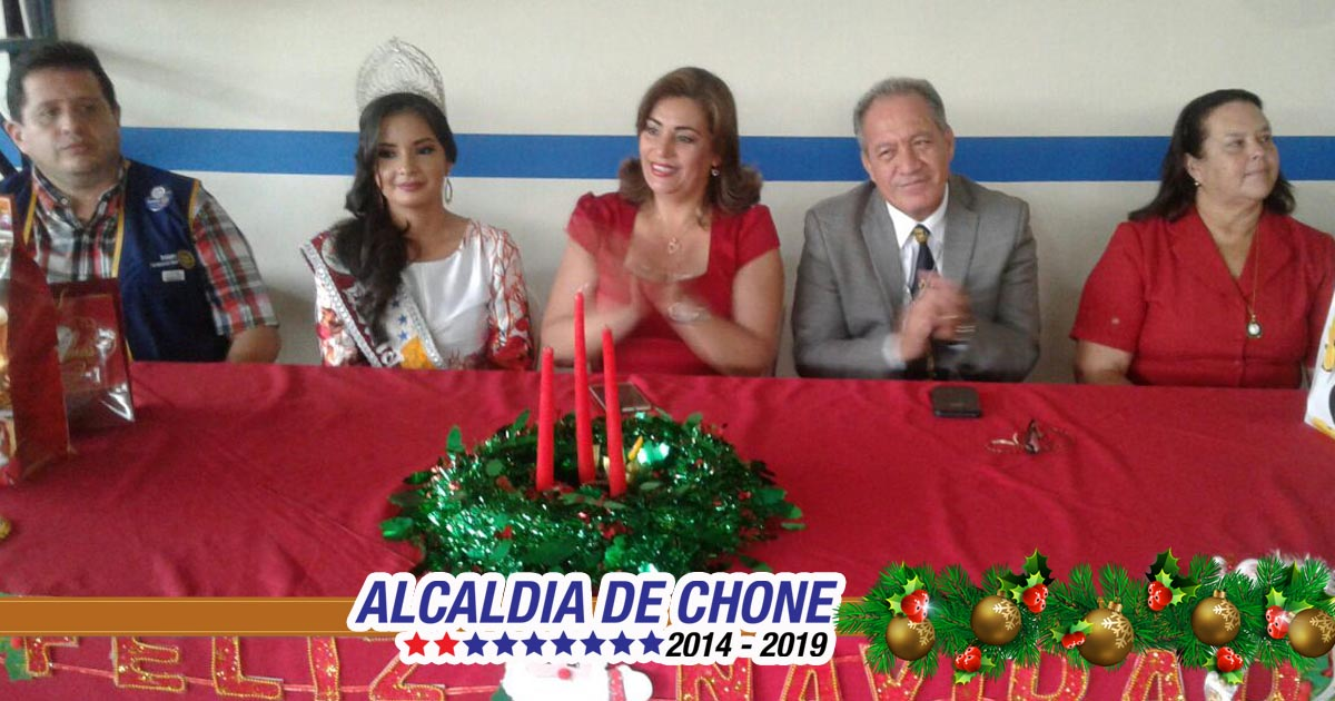Homenaje Navideño GADM Chone y Rotary Club