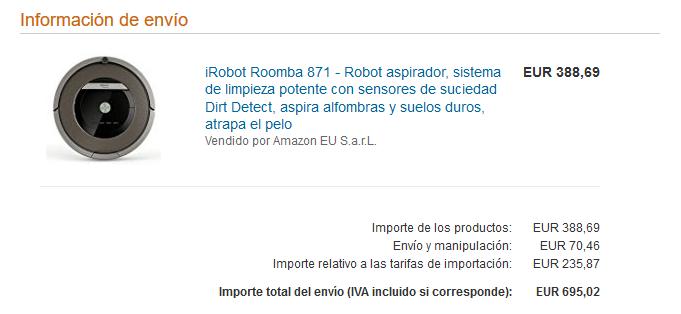 precio aspiradora robot