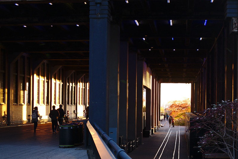 High Line tunnels at sunset