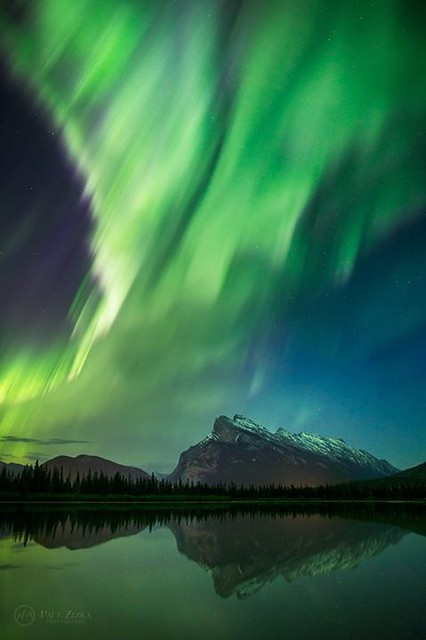 Happy International Mountain Day everyone! So thankful for time spent in high places! :-) Looking forward to speaking/celebrating in Canmore tonight! Aurora over Mount Rundle, Banff National Park. Travel Alberta Manfrotto