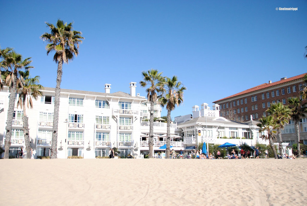 Santa Monican rannalla, Kalifornia, USA