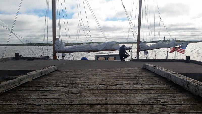 Tuk wharf low tide