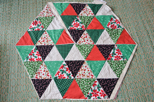 Quilting - Completed quilting, top.