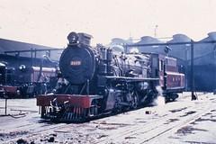 East African Railways - EAR 29 Class 2-8-2 steam locomotive Nr. 2908 'Elgeyo' in Nairobi Shed, December 1967 (North British Locomotive Company, Glasgow 26912 / 1952)