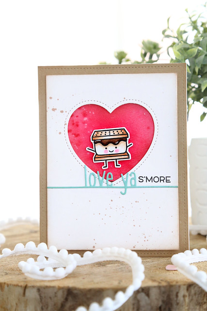 love you s'more (Lawn Fawn valentine release week)