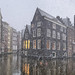 Snowflakes falling on the most idyllic and oldest canals of Amsterdam by B℮n