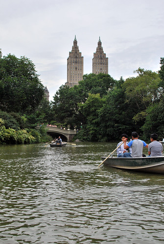 rowing in central park.