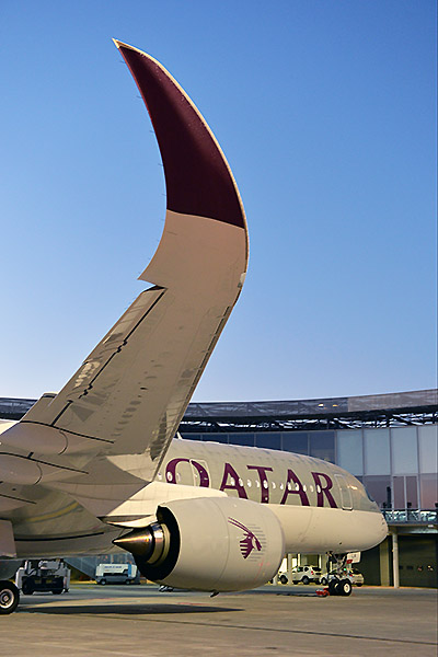 Qatar Airways A350-900 wingtips (Airbus)