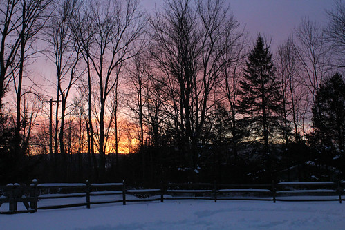 vermont winter snow outdoors sunset