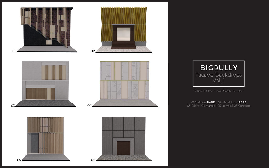 BIGBULLY Facade Backdrops Vol. 1 Gacha