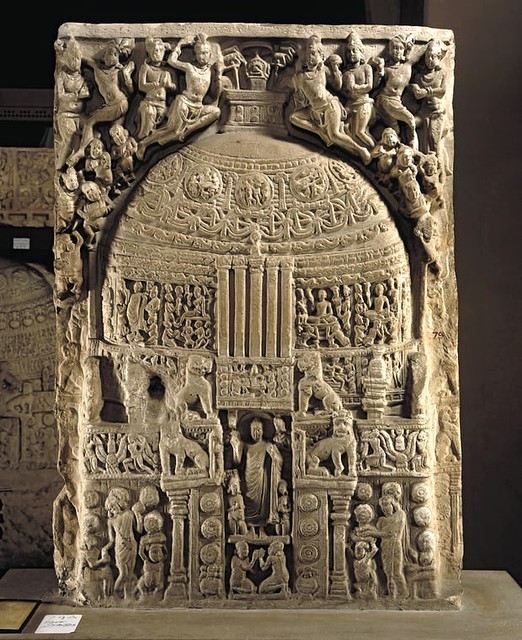 A two-sided limestone relief from the Great Shrine at Amaravati. From usartnews.com