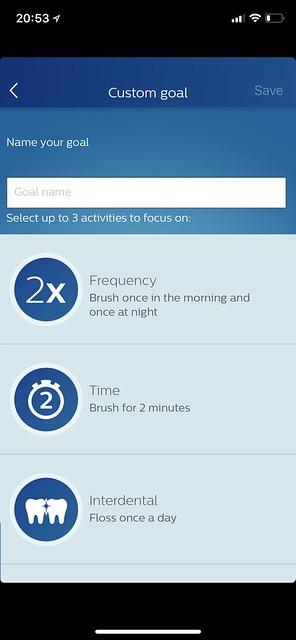 Philips Sonicare iOS App - Custom Goal