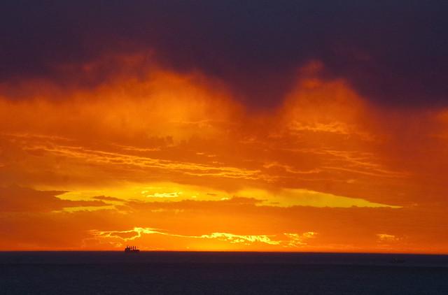 Sunset, Mosman Beach, Fremantle, WA, 21/10/17