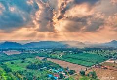 Crepuscular rays @Pak Chong, Thailand