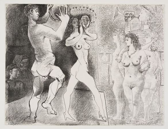 PabloPicassoThe Rehearsal21-26February1954Lithograph