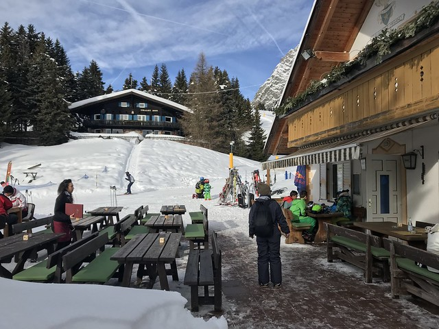 Alto Adige ski slope rifugio