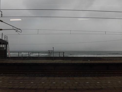 日本海は大荒れ