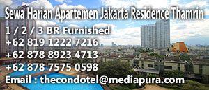 sewa apartemen harian jakarta residence thamrin city