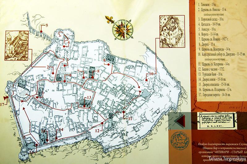 Карта Старого Бара