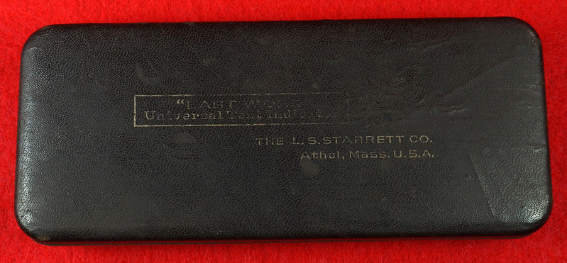 RD19916 Vintage Starrett 711-F Last Word Dial Indicator In Original Case with Label DSC03161