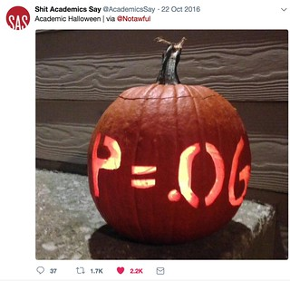 Academic Halloween p value