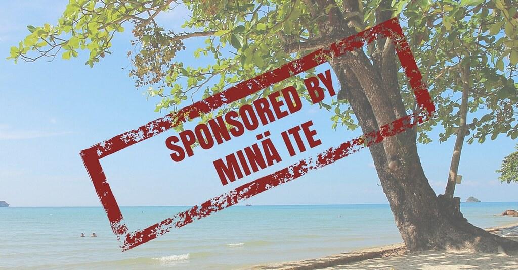 Yhteistyö vai sponsored by Minä ite!