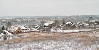 DP2M4093. East End of Village Skrepyaschevo (Скрепящево) in Snow