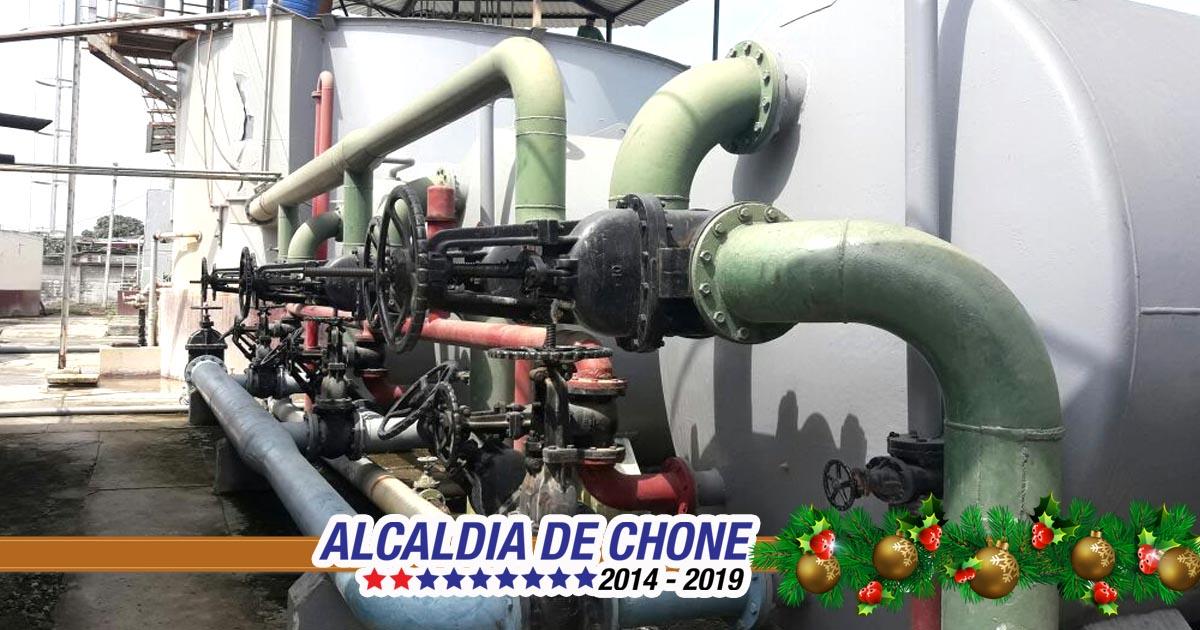 Aguas del Chuno realiza mantenimiento en Área de Producción