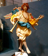 Angel - Modern statuette with clothes, for crib (18th century style) - Temporary exhibition up to January 8, 2018 (free entrance) at Santa Marta Church in Naples
