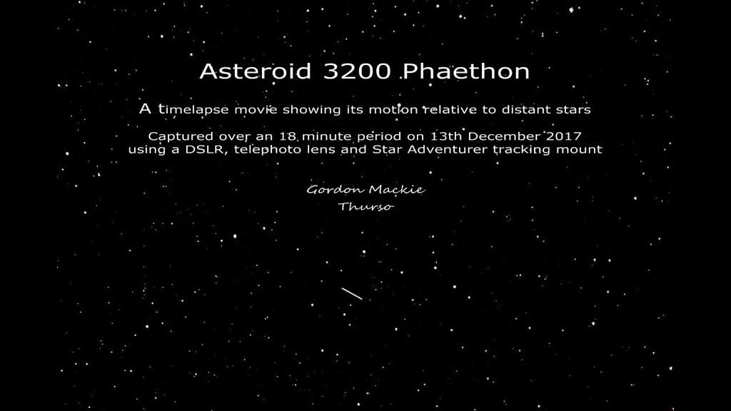 Phaethon Timelapse Movie
